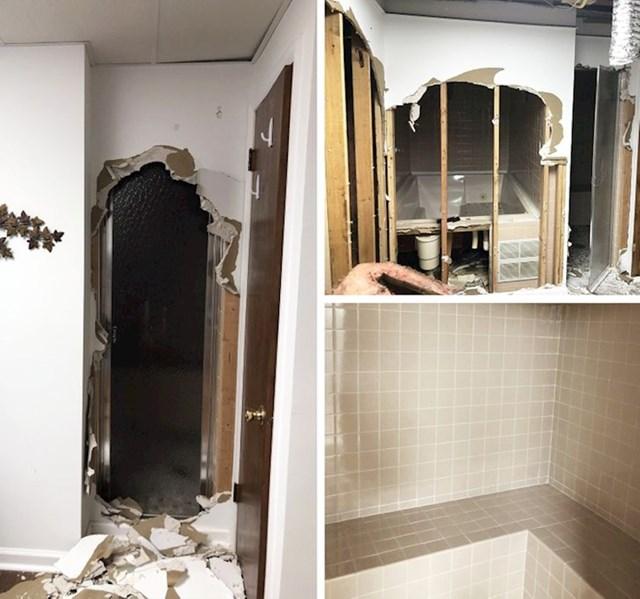 14. Otkrili smo staru saunu u našoj kupaoni tijekom preuređivanja.