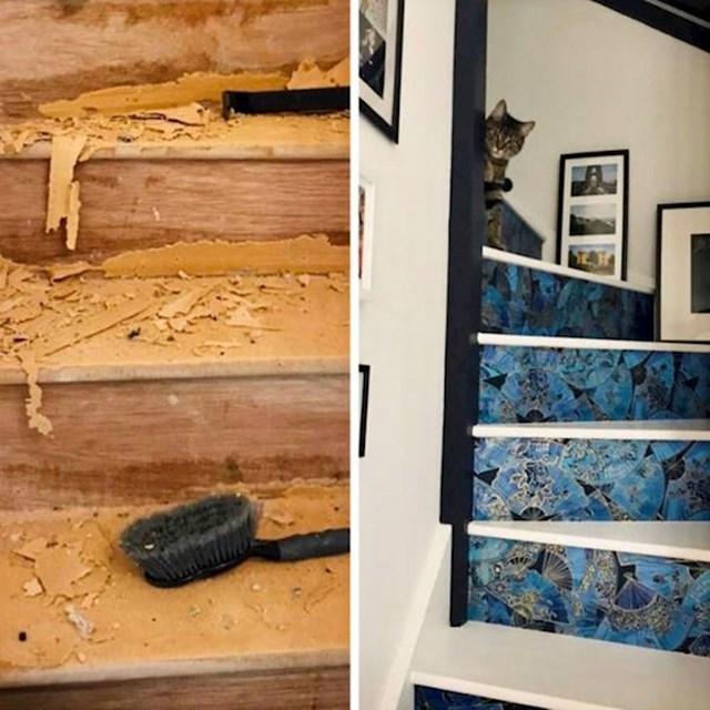 1. Odlučila je urediti stepenice u svojoj kući. Ispale su stvarno genijalno!