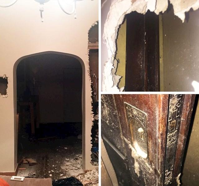 4. Otkrili smo tajnu sobu sa predivnim vratima tijekom preuređivanja kuće