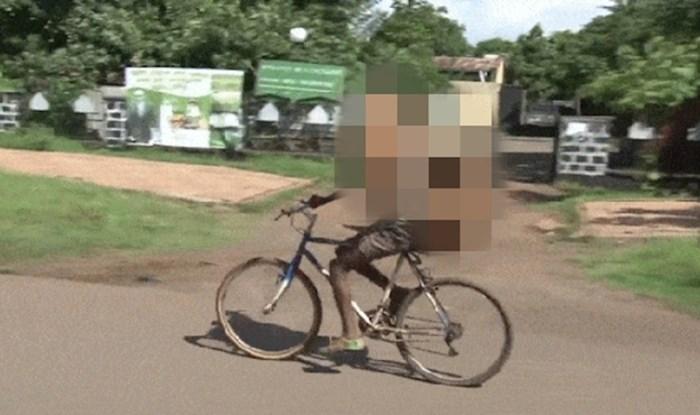 Urnebesna viralna snimka; morate vidjeti što čovjek prevozi na biciklu