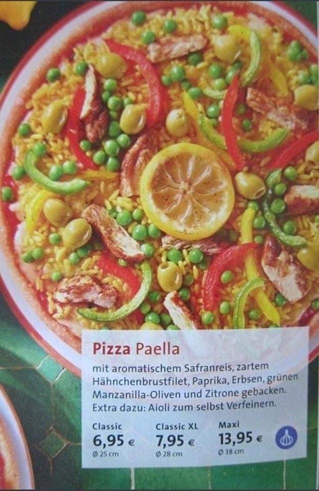 9. Pizza zbog koje bi Italija i Španjolska mogle tužiti Njemačku.