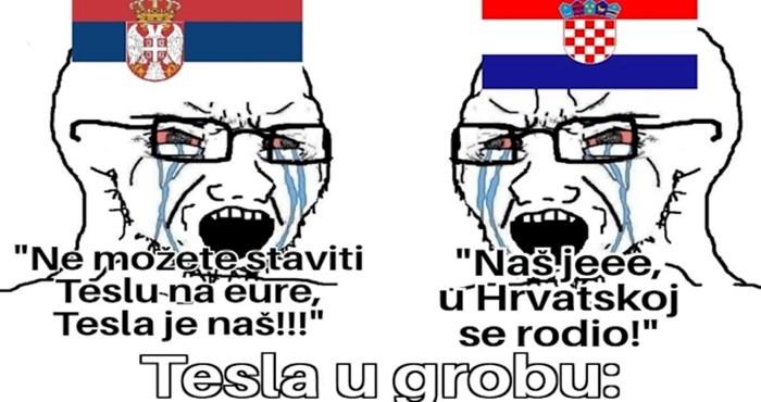 Tisuće su lajkale urnebesan meme o hrvatsko-srpskim prepucavanjima oko Tesle, morate vidjeti