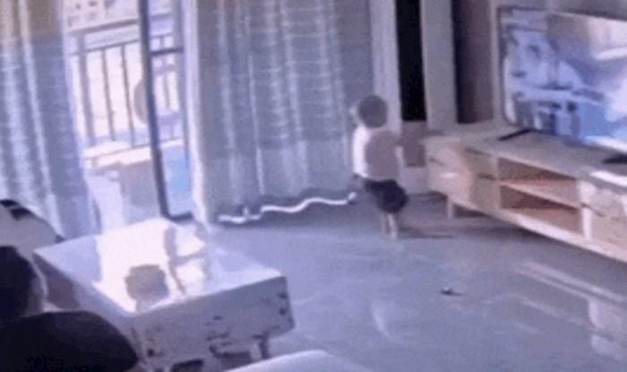 Ova snimka je pravi dokaz da s malom djecom uvijek treba biti na oprezu
