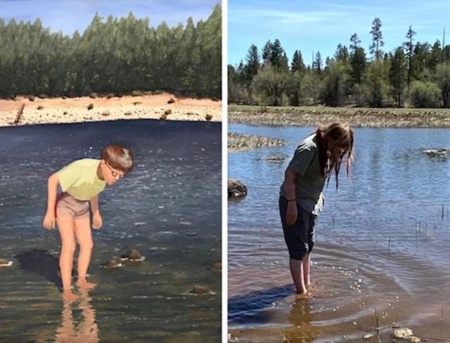 """""""Moj djed nacrtao je sliku mene koji tražim ribice u jezeru. Moja kćer danas radi istu stvar."""""""