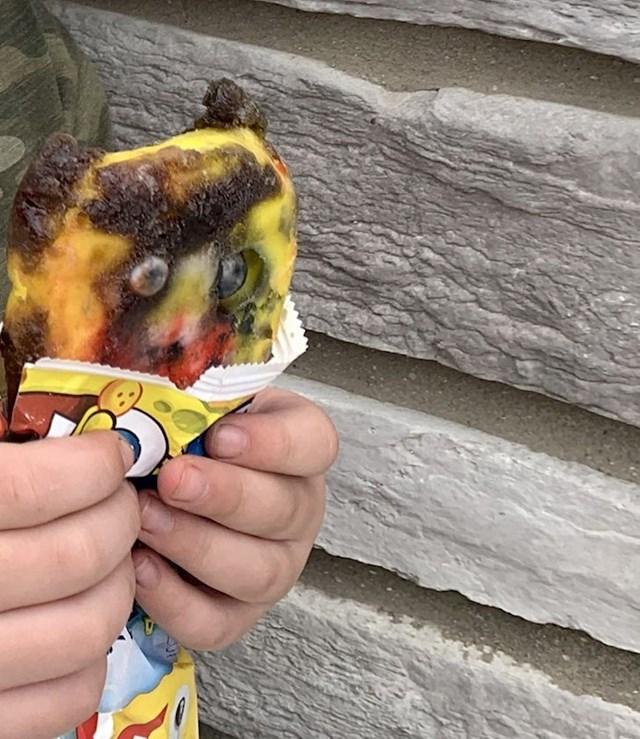 """14. """"Moj sin bio je jako uzbuđen što će pojesti Spužva Bob sladoled."""""""