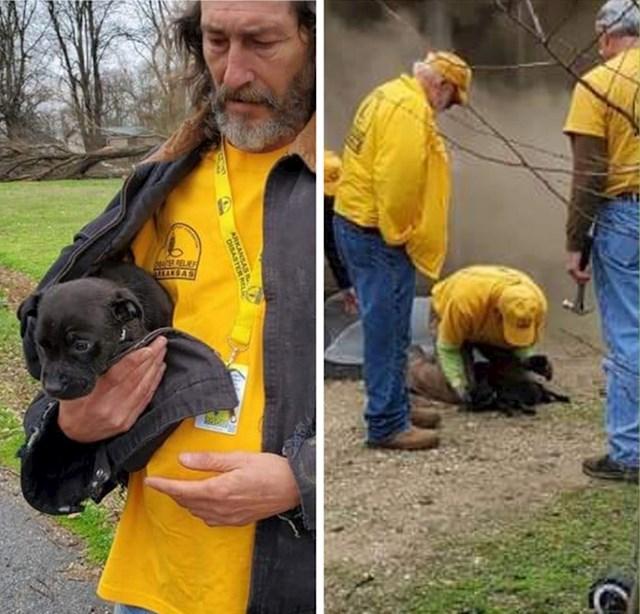 Volonteri su spasili psića iz goreće kuće i oživili ga umjetnim disanjem.