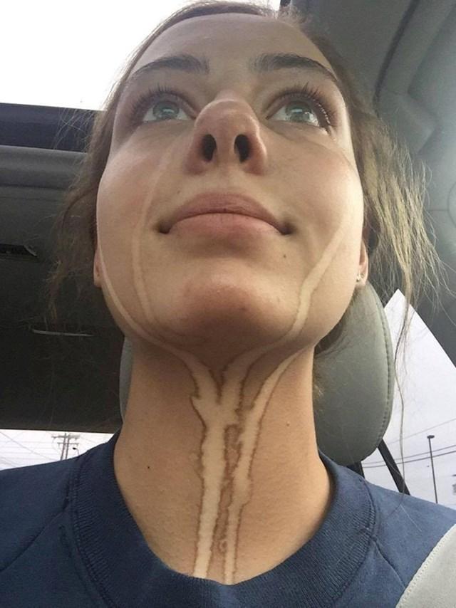 7. Išla je na spray tan i zaboravila da ne bi trebala plakati. Njezine tajne sada su otkrivene...