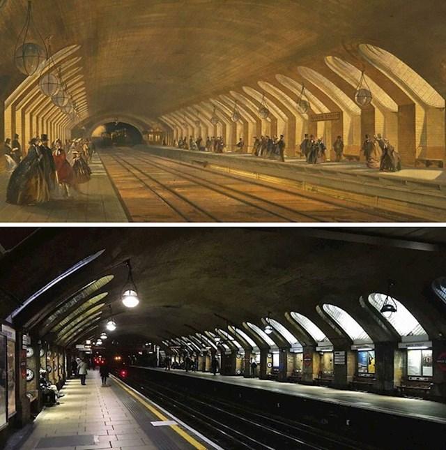 13. Londonski metro prije 157 godina i danas