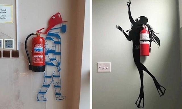 13. Genijalni ukrasi za vatrogasni aparat.