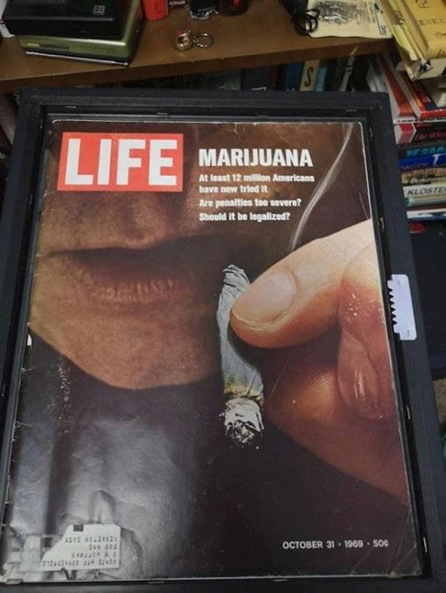 17. Reklama za raspravu o legalizaciji trave iz 1969. godine.