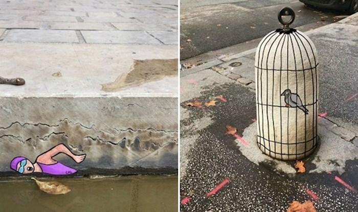 Francuski umjetnik pretvara ulice svojeg grada u stranice iz vesele bojanke