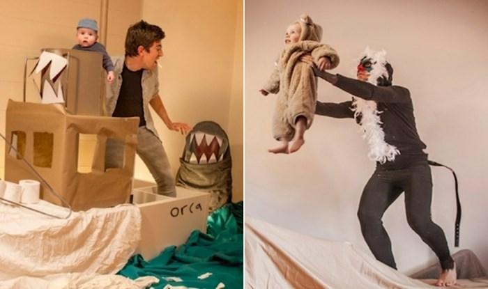 U karanteni su pronašli kreativan i simpa hobi, rekreiraju poznate filmske scene sa svojim sinčićem