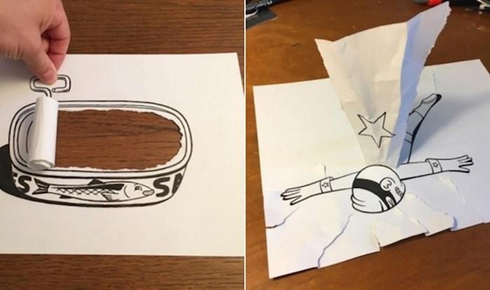 Crteži ovog umjetnika postali su hit zbog jednostavne, ali nesvakidašnje tehnike koju koristi