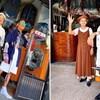 Seniorski par iz Tajvana pozira u odjeći koju ljudi ostave u njihovoj praonici rublja