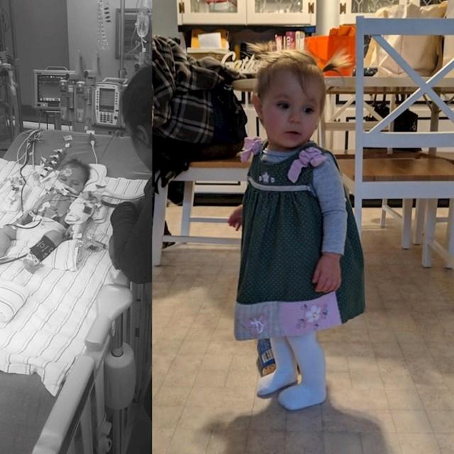 """20. """"Prije godinu dana moja je kći imala tešku operaciju srca. Ovo je ona danas."""""""