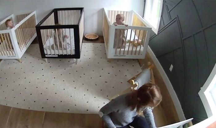 Pospremala je dječju sobu, a kamera je snimila presmiješnu scenu koja se događala u pozadini