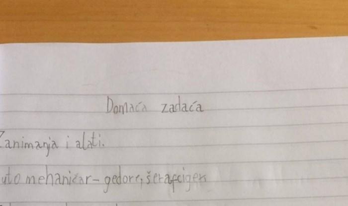 Učiteljica je morala nešto poručiti ocu ovog učenika nakon što mu je pregledala zadaću, fotka je hit