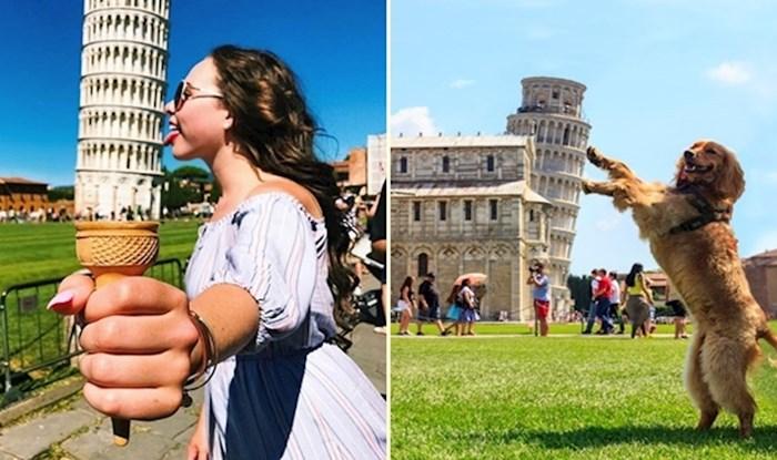 Tko misli da je fotografiranje s kosim tornjem u Pisi dosadno, očito nije vidio ove fotke