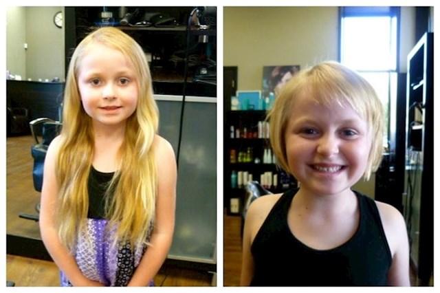 18. Moja šestogodišnja kćer odlučila se ošišati kako bi donirala kosu.