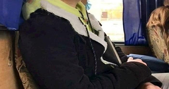 Nećete vjerovati kad vidite što je lik napravio da ne mora nositi masku u busu
