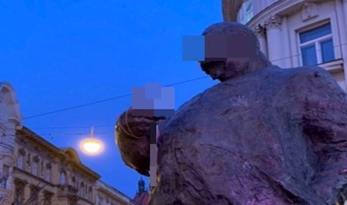 Duhoviti građanin sasvim je prigodno dotjerao Radićev kip u Zagrebu