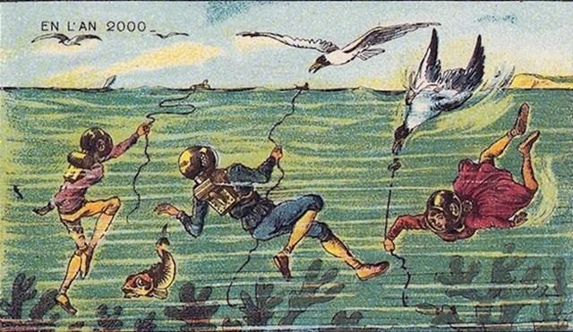 Podvodno pecanje.