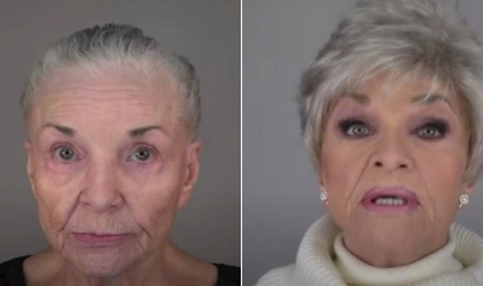 VIDEO 80-godišnjakinja pomoću šminke rekreirala svoje lice iz mlađih dana
