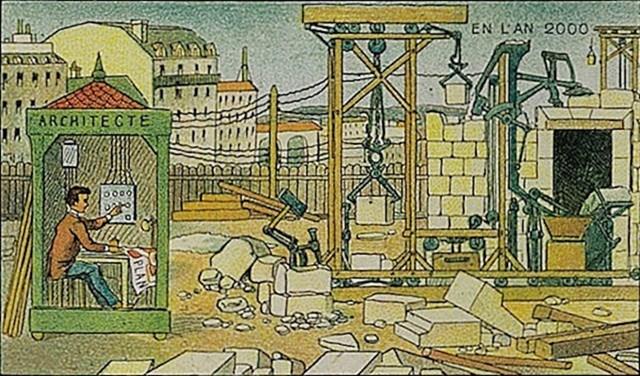 Ovako su zamišljali suvremena gradilišta. Mnogo urednije nego realnost.