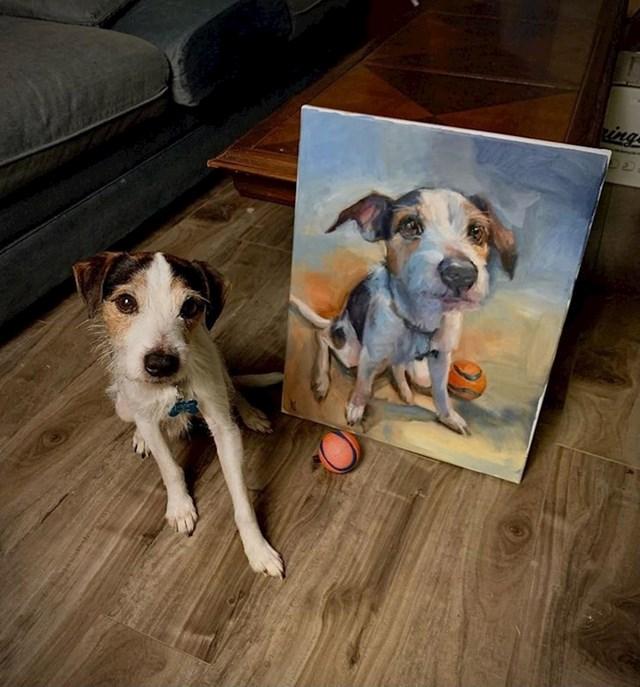 """7. """"Napravio sam portret svog psa i njegove omiljene loptice."""""""