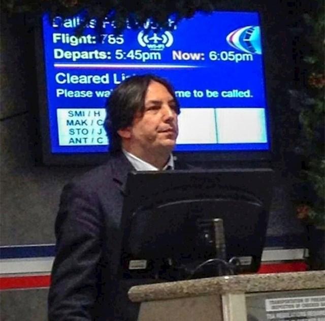 3. Severus Snape radi u zračnoj luci?