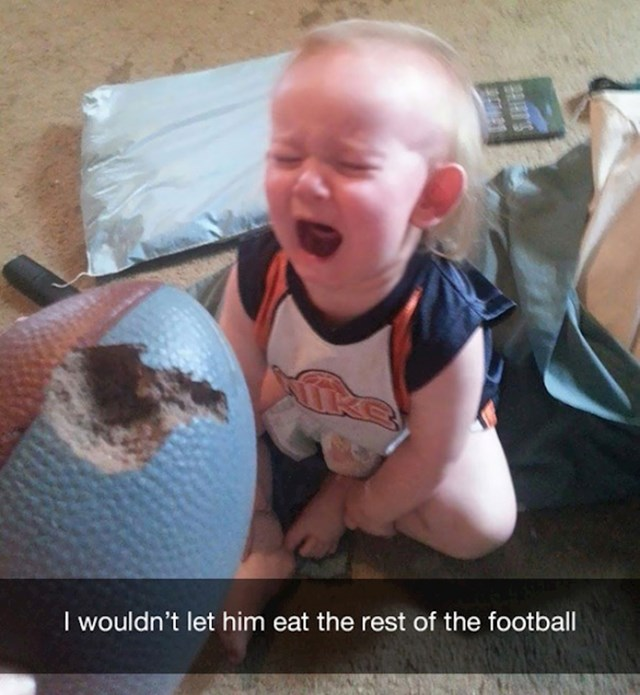 20. Nisam mu dozvolio da do kraja pojede loptu.
