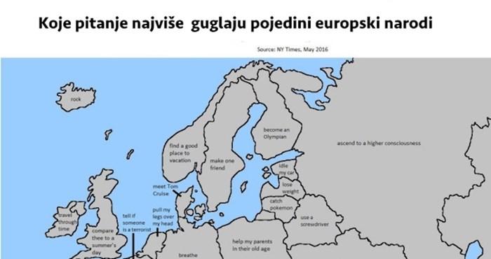 Internetom kruži mapa s pitanjima koja pojedini narodi najviše guglaju; evo što zanima Hrvate