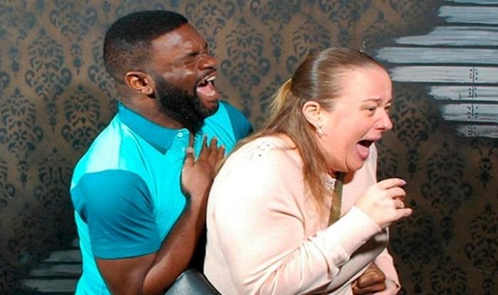 Skrivena kamera u kući strave snima izraze lica ljudi u trenutku kad se prepadnu, fotke su hit