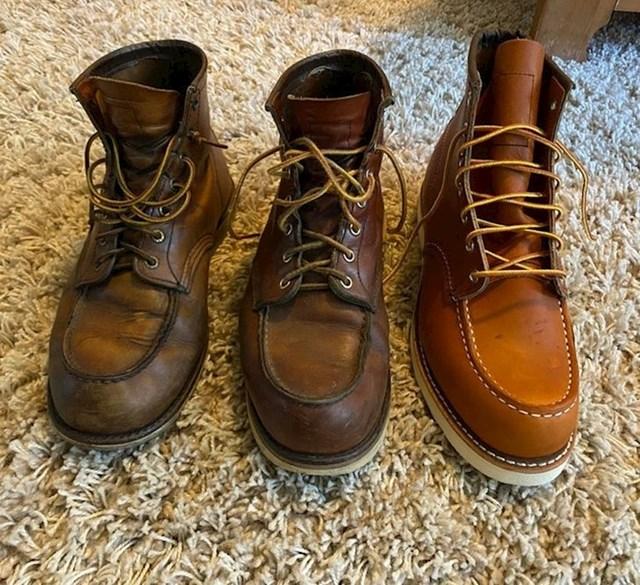 Cipele stare 6 godina, 3 godine i posve nove.