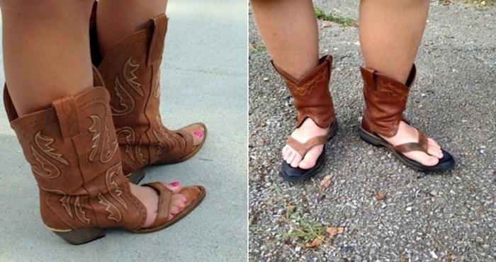 Hibridi između kaubojskih čizama i sandala su vjerojatno najružnija obuća koju ste ikad vidjeli