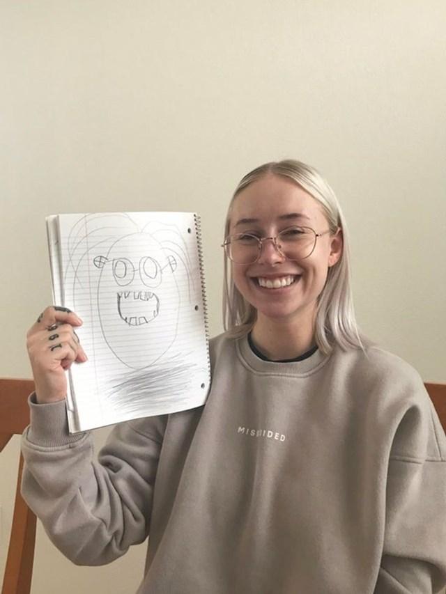 """8. """"Moj mali nećak napravio mi je genijalan portret!"""""""