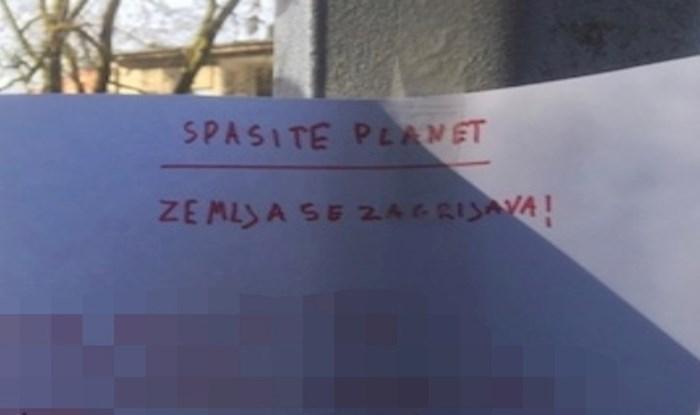 Dijete iz Zagreba na ulici ostavilo upute za spas planeta, ovo je preslatko