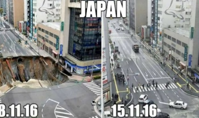Komično, ali i tužno; pogledajte koliko sanacija rupe traje u Japanu, a koliko kod nas