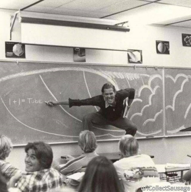 """12. """"Ovako su izgledala predavanja iz matematike dok je moj tata radio kao profesor."""""""