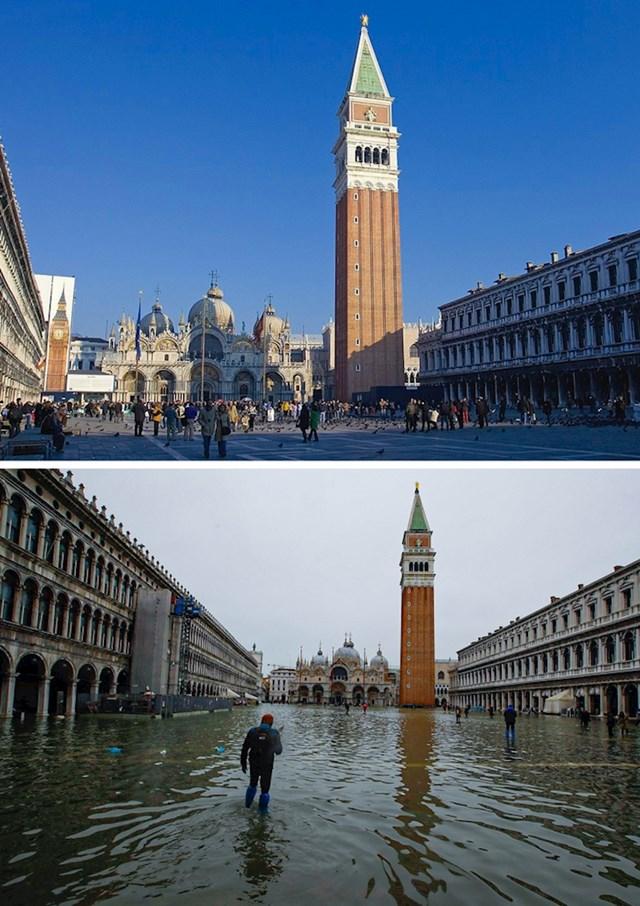 4. Venecija koju su krajem prošle godine zadesile nezapamćene poplave.