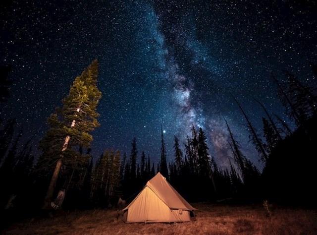 """""""Moja noć u apsolutnoj divljini. Bilo je strašno, ali isplatilo se."""""""