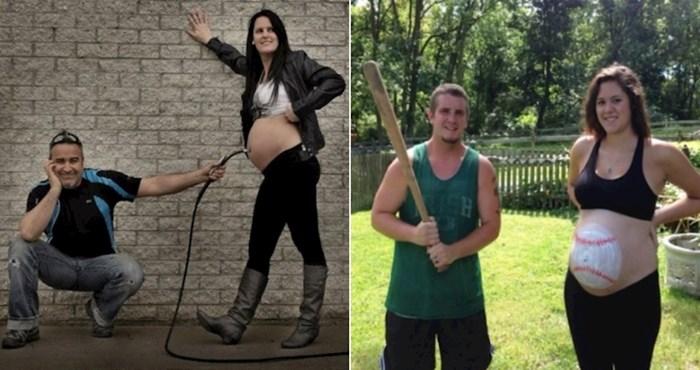 Parovi koji su najavili trudnoću ekstremno čudnim fotografijama