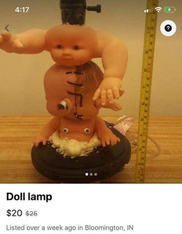 9. Jedna kreativna i funkcionalna stolna lampa.