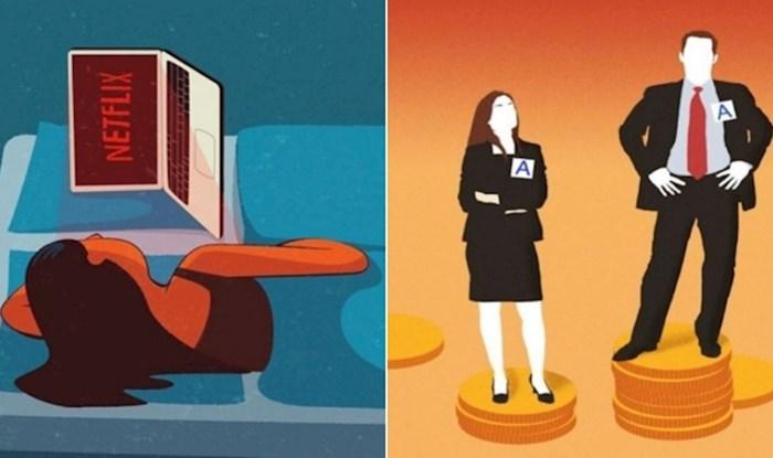 16 kreativnih ilustracija koje odlično opisuju probleme modernog društva