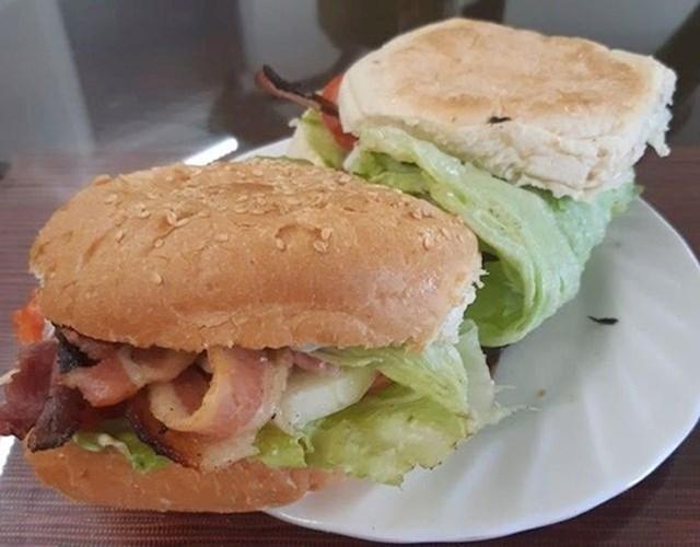 3. Ovako zamotajte salatu kako vam sastojci ne bi ispadali iz burgera ili sendviča