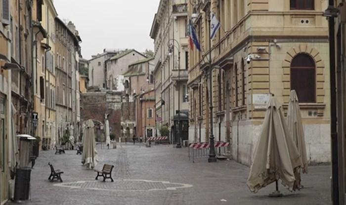 VIDEO Pogledajte kako jezivo izgledaju ulice Rima u doba karantene