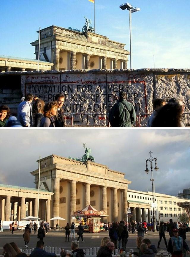 2. Berlinski zid fotkan 1993. i danas