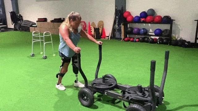 Niti gubitak noge nije ju demotivirao u vježbanju.