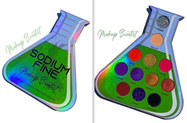 5. Paleta sjenila inspirirana kemijskim posuđem