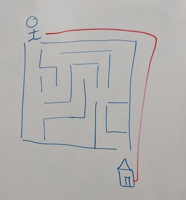 """13. """"Rekla sam učeniku da pronađe izlaz iz labirinta. Na kraju sam mu čestitala."""""""